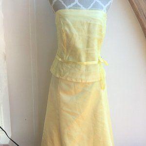 NWT! 2 Pc Yellow Bridesmaid Dress  bling/crinoline